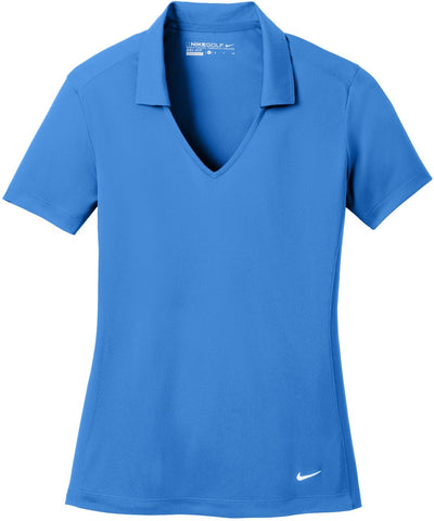 NIKE Golf Ladies Dri-Fit Vertical Mesh Polo-S-Brisk Blue-Thread Logic
