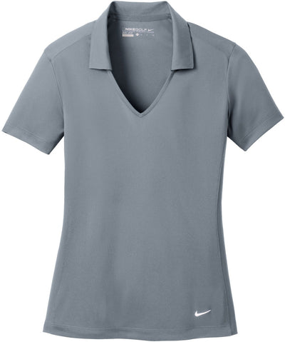 NIKE Golf Ladies Dri-Fit Vertical Mesh Polo-S-Cool Grey-Thread Logic