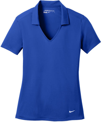 NIKE Golf Ladies Dri-Fit Vertical Mesh Polo-S-Old Royal-Thread Logic