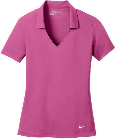 NIKE Golf Ladies Dri-Fit Vertical Mesh Polo-S-Pink Fire-Thread Logic