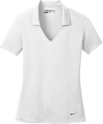 NIKE Golf Ladies Dri-Fit Vertical Mesh Polo-S-White-Thread Logic