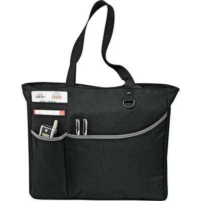 Elevate-Metropolis Zippered Meeting Tote-Black-Thread Logic