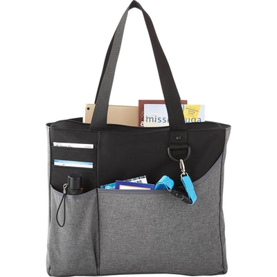 Elevate-Metropolis Zippered Meeting Tote-Graphite-Thread Logic