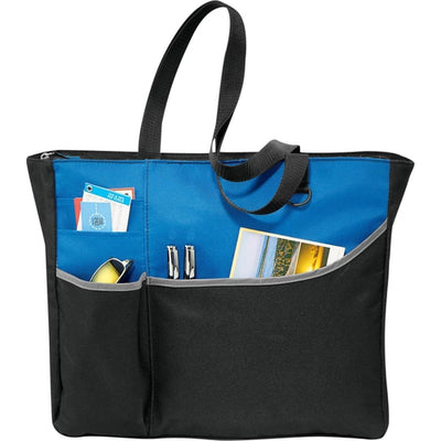 Elevate-Metropolis Zippered Meeting Tote-Royal-Thread Logic