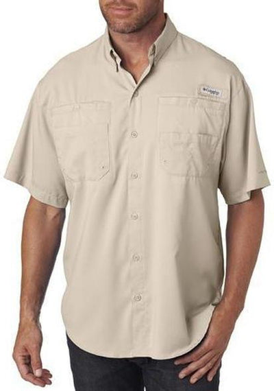 Columbia Tamiami II Short-Sleeve Shirt-S-Fossil-Thread Logic logo-right