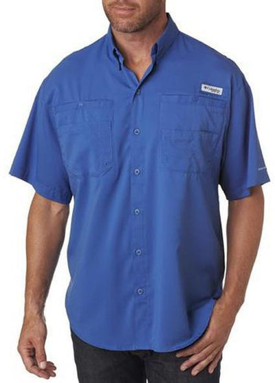 Columbia Tamiami II Short-Sleeve Shirt-S-Vivid Blue-Thread Logic logo-right