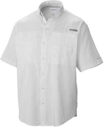 Columbia Tamiami II Short-Sleeve Shirt-S-White-Thread Logic no-logo
