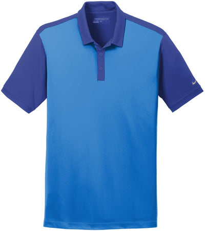 Light Blue Photo/Deep Royal NIKE Golf Dri-Fit Colorblock Icon Modern Fit Polo