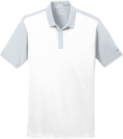 White/Wolf Grey NIKE Golf Dri-Fit Colorblock Icon Modern Fit Polo