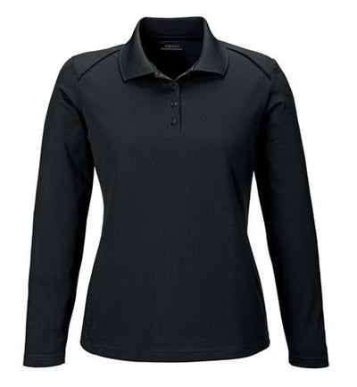 Extreme-Ladies Snag Protection Long-Sleeve Polo-XS-Black-Thread Logic