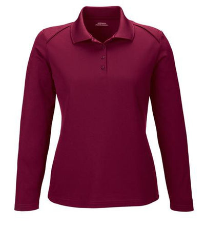 Extreme-Ladies Snag Protection Long-Sleeve Polo-XS-Burgundy-Thread Logic