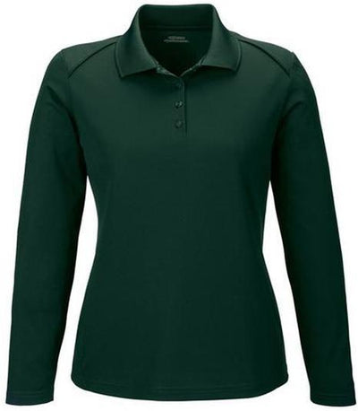 Extreme-Ladies Snag Protection Long-Sleeve Polo-XS-Forest Green-Thread Logic