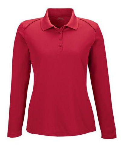 Extreme-Ladies Snag Protection Long-Sleeve Polo-XS-Classic Red-Thread Logic