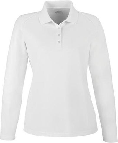 Extreme-Ladies Snag Protection Long-Sleeve Polo-XS-White-Thread Logic