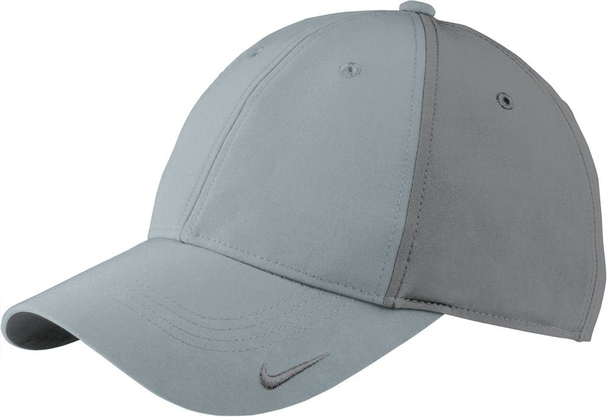 Cool Grey/Dark Grey NIKE Golf Swoosh Legacy 91 Cap