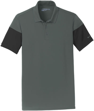 NIKE Golf Dri-Fit Sleeve Colorblock Modern Fit Polo-S-Anthracite/Black-Thread Logic