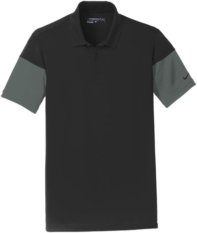 NIKE Golf Dri-Fit Sleeve Colorblock Modern Fit Polo-S-Black/Anthracite-Thread Logic