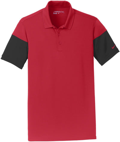 NIKE Golf Dri-Fit Sleeve Colorblock Modern Fit Polo-S-Gym Red/Black-Thread Logic