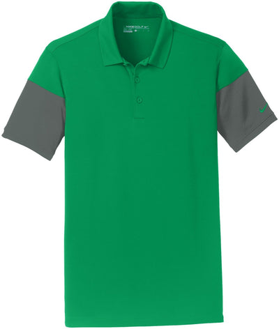 NIKE Golf Dri-Fit Sleeve Colorblock Modern Fit Polo-S-Pine Green/Anthracite-Thread Logic