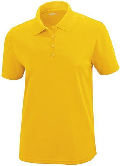 CORE365-Ladies Performance Pique Polo-XS-Gold-Thread Logic