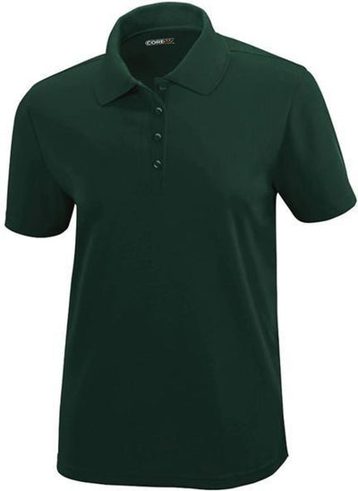 CORE365-Ladies Performance Pique Polo-XS-Forest Green-Thread Logic