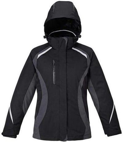 CORE365-Ladies 3-in-1 Jacket with Insulated Liner-S-Black-Thread Logic
