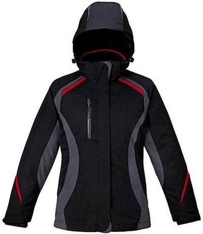 CORE365-Ladies 3-in-1 Jacket with Insulated Liner-S-Black/Classic Red-Thread Logic