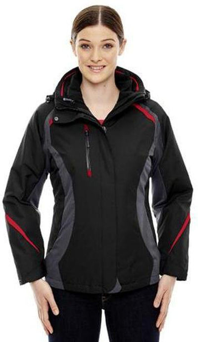 CORE365-Ladies 3-in-1 Jacket with Insulated Liner-Thread Logic no-logo