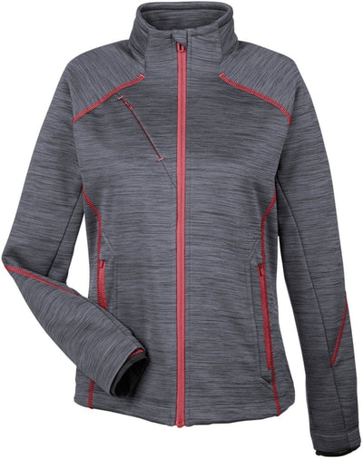 North End Ladies Flux Mélange Bonded Fleece Jacket