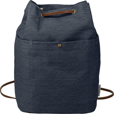 Field&Co-Field & Co. Convertible 16oz. Cotton Canvas Tote-Navy-Thread Logic