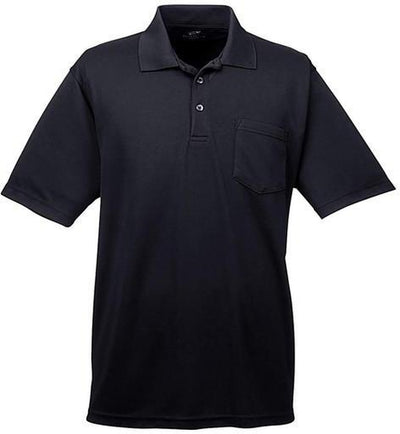 UltraClub-Cool & Dry Mesh Pique Polo with Pocket-S-Black-Thread Logic