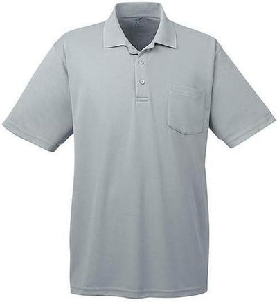 UltraClub-Cool & Dry Mesh Pique Polo with Pocket-S-Silver-Thread Logic