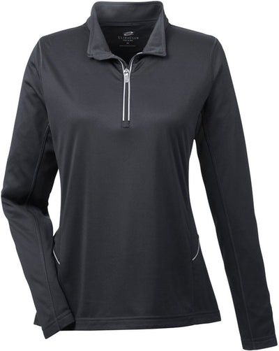 UltraClub Ladies Cool & Dry Sport Quarter-Zip Pullover