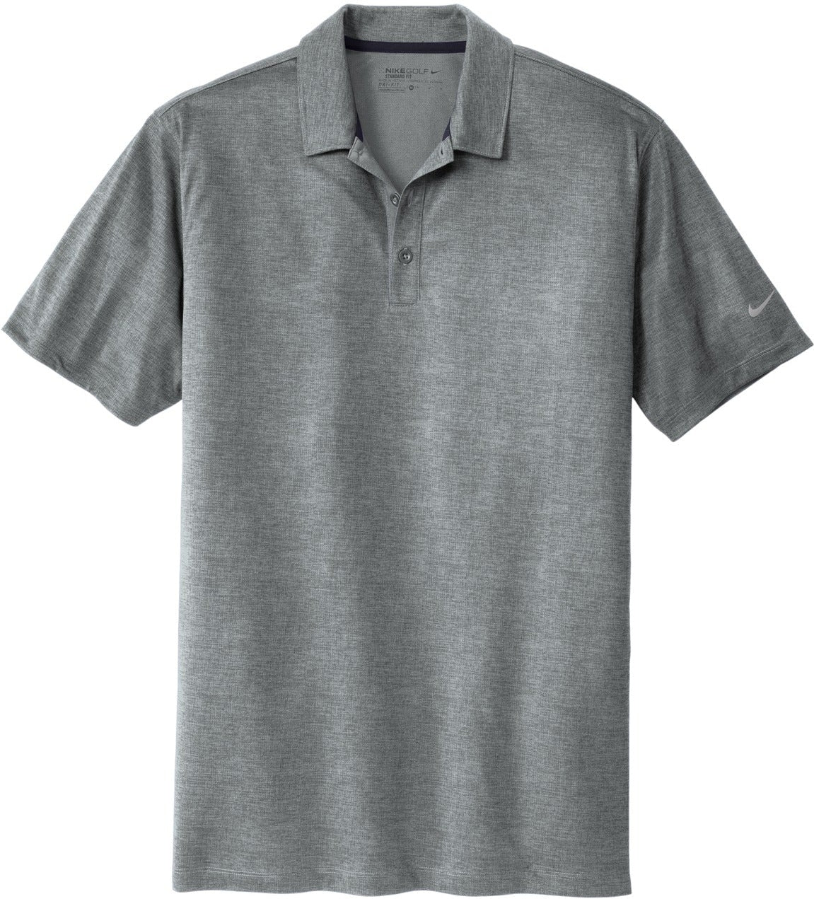 NIKE Golf Dri-Fit Crosshatch Polo-S-Cool Grey/Anthracite-Thread Logic