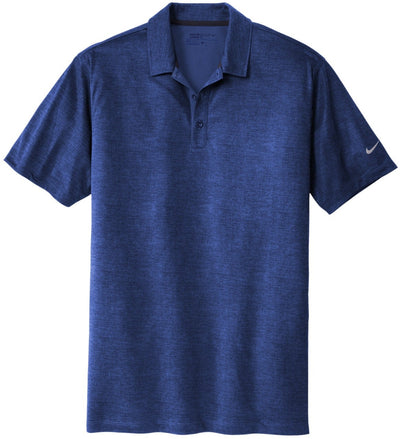 NIKE Golf Dri-Fit Crosshatch Polo-S-Old Royal/Marine-Thread Logic