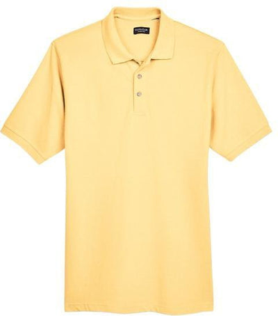 UltraClub-Classic Pique Polo Shirt-S-Yellow-Thread Logic