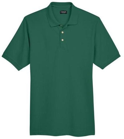 UltraClub-Classic Pique Polo Shirt-S-Forest Green-Thread Logic