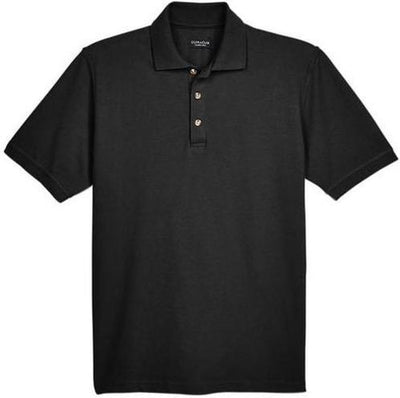 UltraClub-Classic Pique Polo Shirt-S-Black-Thread Logic