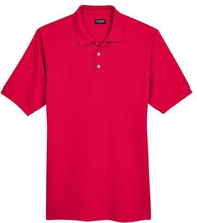 UltraClub-Classic Pique Polo Shirt-S-Red-Thread Logic