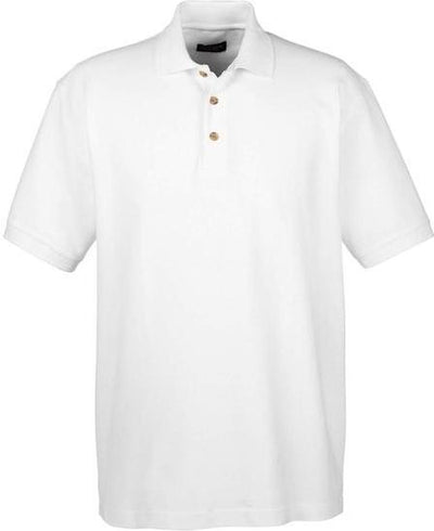 UltraClub-Tall Classic Polo Shirt-XLT-White-Thread Logic
