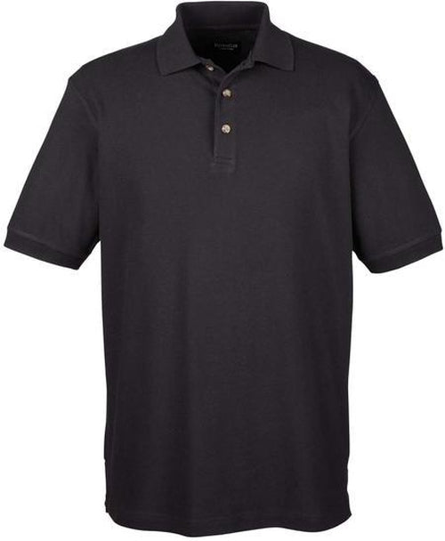 UltraClub-Tall Classic Polo Shirt-XLT-Black-Thread Logic