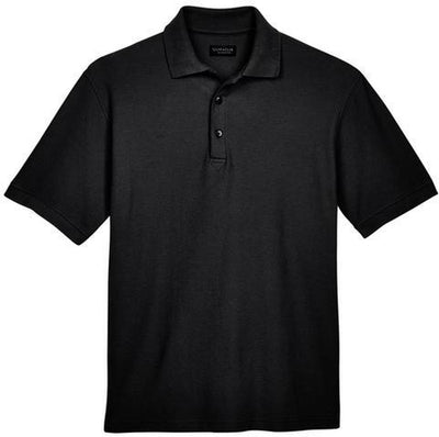UltraClub-Whisper Pique Polo Shirt-S-Black-Thread Logic