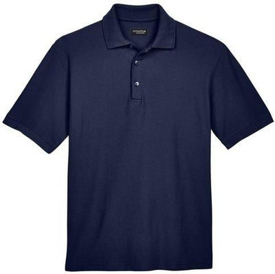 UltraClub-Whisper Pique Polo Shirt-S-Navy-Thread Logic