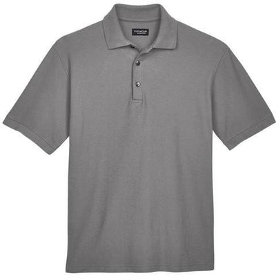 UltraClub-Whisper Pique Polo Shirt-S-Graphite-Thread Logic