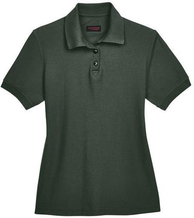 UltraClub-Ladies Whisper Pique Polo-XS-Forest Green-Thread Logic