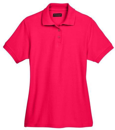 UltraClub-Ladies Whisper Pique Polo-XS-Red-Thread Logic