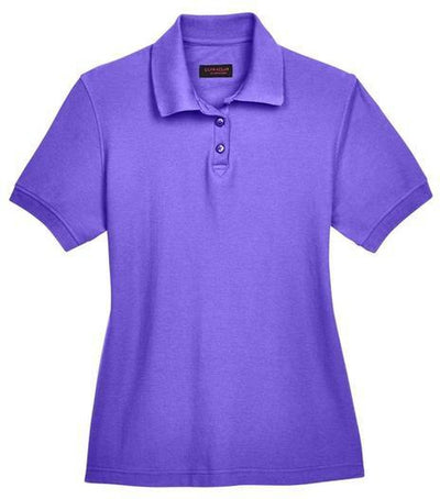 UltraClub-Ladies Whisper Pique Polo-XS-Purple-Thread Logic
