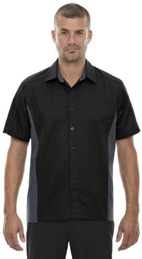 North End-Color Block Twill Dress Shirt-S-True Royal/Black-Thread Logic