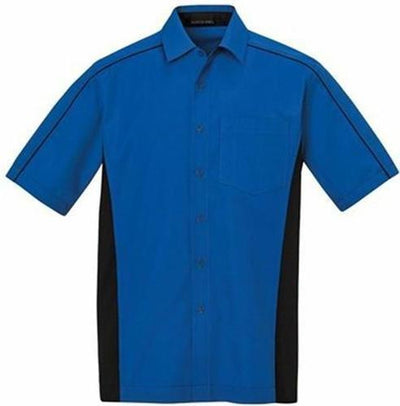 North End-Tall Color Block Twill Dress Shirt-LT-True Royal/Black-Thread Logic