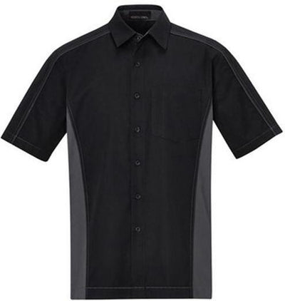 North End-Color Block Twill Dress Shirt-S-Black/Carbon-Thread Logic